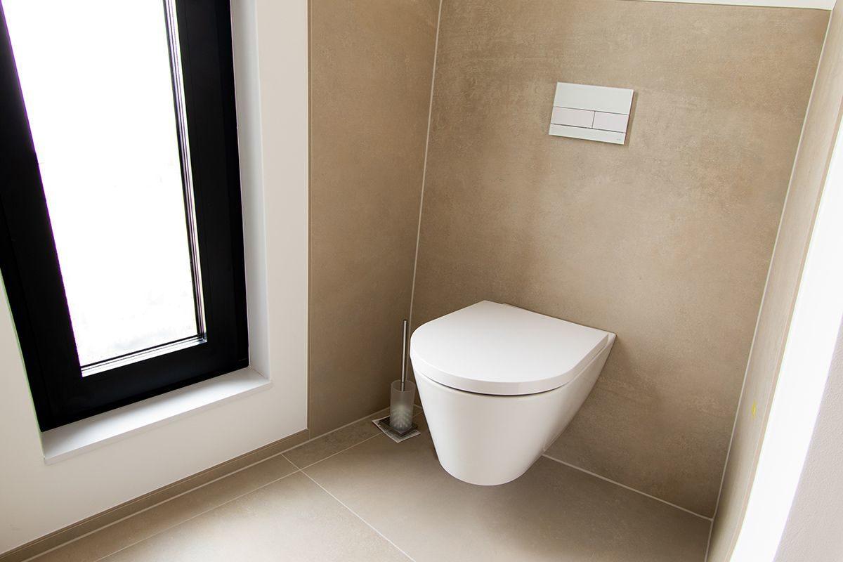 Abbildung Modernes Bad mit XXL-Fliesen WC-Bereich